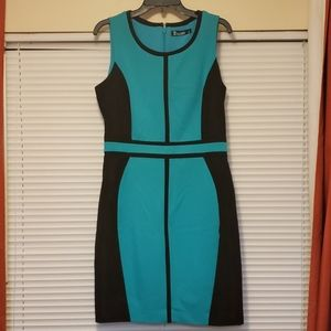 NY&Co 7th Ave Suiting Collection Green Dress